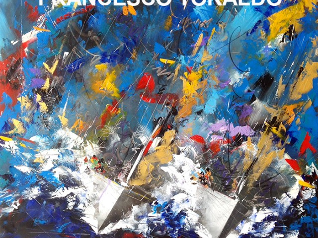 """Rolex Cup"" oil and acrylic on canvas 120/120 by Francesco Toraldo"
